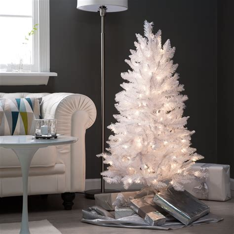 4 ft white tinsel tree trees at hayneedle