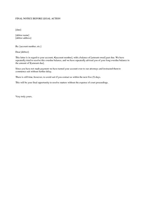 debt letter before action template debt recovery