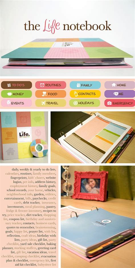 organizing life the life notebook 55 planner binder plus a disc with