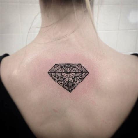diamond nature tattoo upper back tattoo of a diamond by ivy saruzi