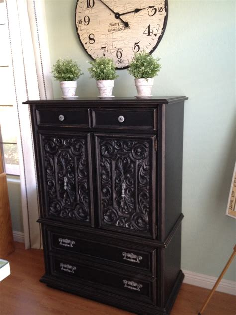 black shabby chic armoire 187 house of rumours