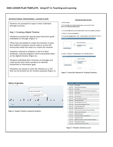 lesson plan template ict xmss ict lesson template carol ann martin