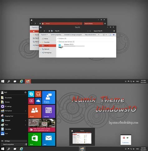 numix theme for windows 10 numix theme windows 10 technical preview by cleodesktop on