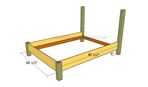 Gallery Queen Size Bed Frame Plans Size Bed Frame Plans
