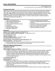 exle resume resume builder raleigh nc