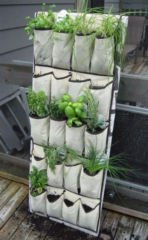 Diy Vertical Garden Pockets Un Jard 237 N Vertical Con S 243 Lo Un Zapatero De Tela Hazlo T 250