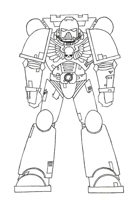 Space Marine Template by Outlines Warhammer Templates Space Marine Template