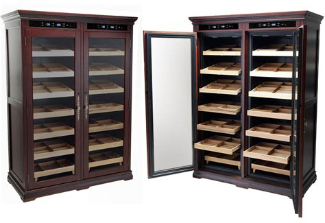 dual zone electronic temperature humidors cigar cabinet