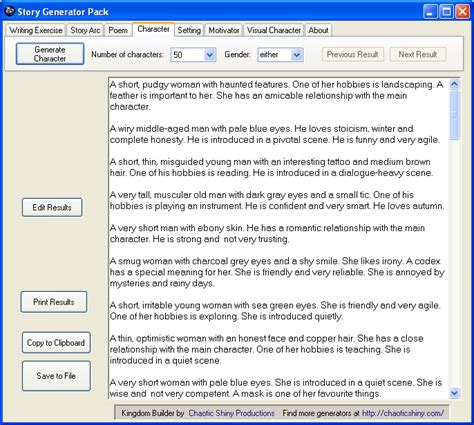 theme generator for a story writer tools generator pack chaotic shiny productions