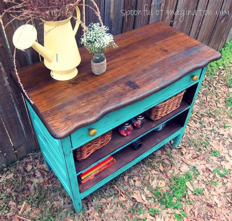 Uses For Dresser Drawers by Recycled Old Dresser Makeover Spoonful Of Imagination