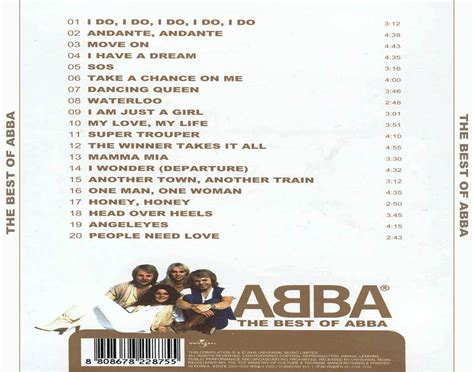 abba the best copertina cd abba the best of abba back cover cd abba