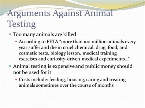 Reasons For Animal Testing by Animal Testing Bad Or Ppt