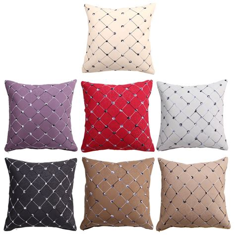 throw pillows bed multicolored plaids throw pillow case square pillow bed