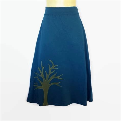 ladies sizes 8 to 10 retro teal blue stretch a line skirt