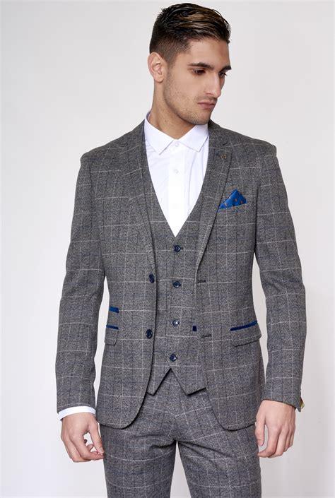 Blazer New Grey grey tweed blazer check mens marc darcy