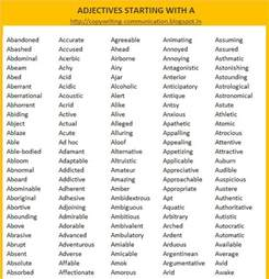 a copywriter s a adjectives list of adjectives