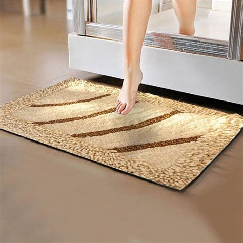 Bathroom Floor Mats Rugs Anti Slip Five Hotel Cotton Bathroom Floor Mat Luxury Leopard Print Bath Towels Set For