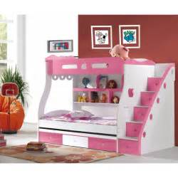 Loft Bunk Beds For Girls by Modern Pink Bedroom With Pink Steps Bump Bed Pink White