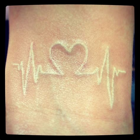 heartbeat tattoo white ink 20 of the hottest white tattoo designs