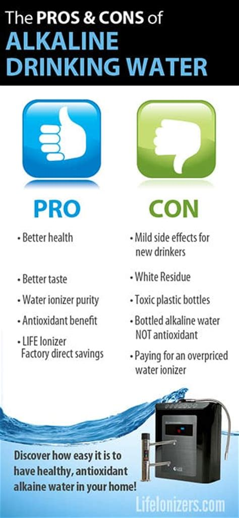 Detox Water Pros And Cons by Alkaline Water Pros And Cons
