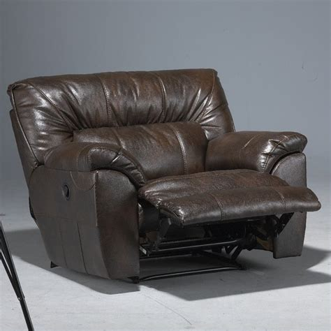oversized cuddler recliner catnapper nolan leather cuddler recliner in godiva