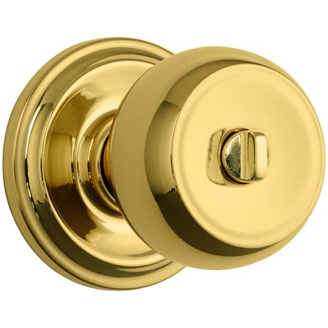 Door Knobs With Lock by Shop Brink S Home Security Push Pull Rotate Polished Brass