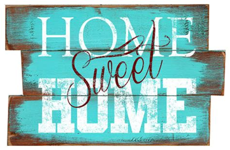 Industrial Chic Home Decor by Quot Home Sweet Home Quot Wood Plank Sign Contemporary Novelty