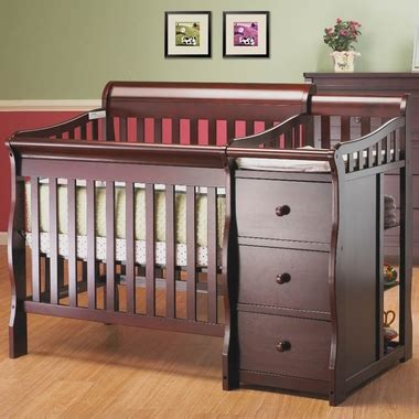 Convertible Mini Crib 3 In 1 Newport 3 In 1 Mini Convertible Crib Merlot 595 Merlot By Sorelle Baby Cribs At