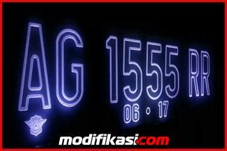 Pembuatan Plat Nomor Acrylic baru plat nomor grafir acrylic menyala angka huruf dan