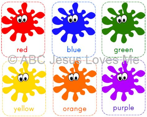 printable flashcards for toddlers colors teaching colors abc jesus loves me