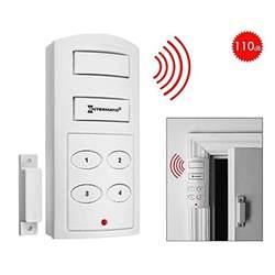 wireless door alarm with programmable keypad