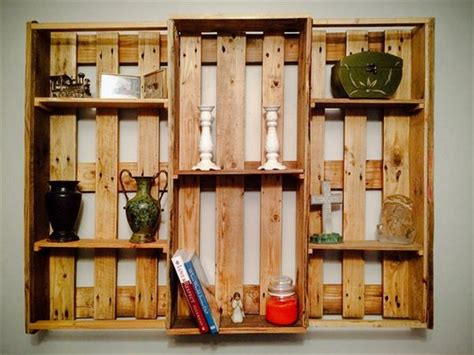 pallets hanging bookshelf ideas pallet ideas recycled pallet shelves for wall decor recycled things