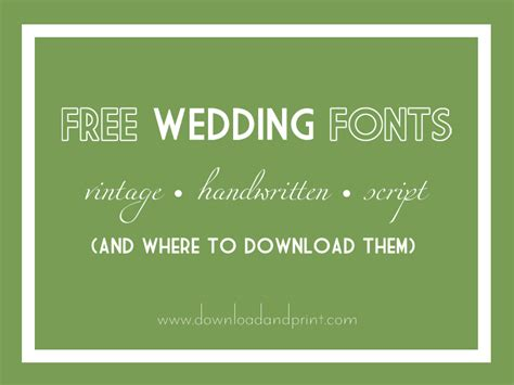 Wedding Font Print by Free Wedding Fonts For Your Diy Invitations