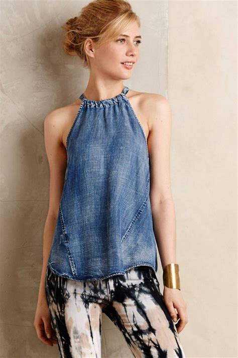 Dress Denim Onde by Best 25 Denim Tunic Ideas On Denim Blouse