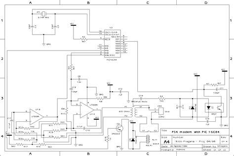 modem circuit diagram the free information society fsk modem electronic