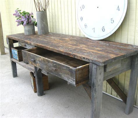 reserved  mark vintage primitive workbench  garden
