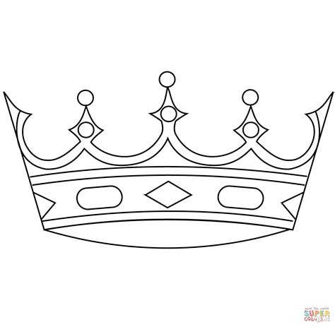 coloring page crown king crowns coloring pages coloring home