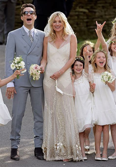 Kate moss, Celebrity weddings and Celebrity wedding