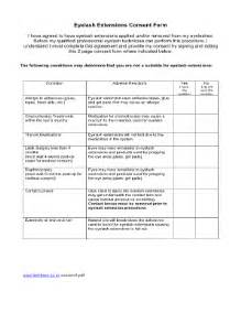 lash extensions consent form fill online printable