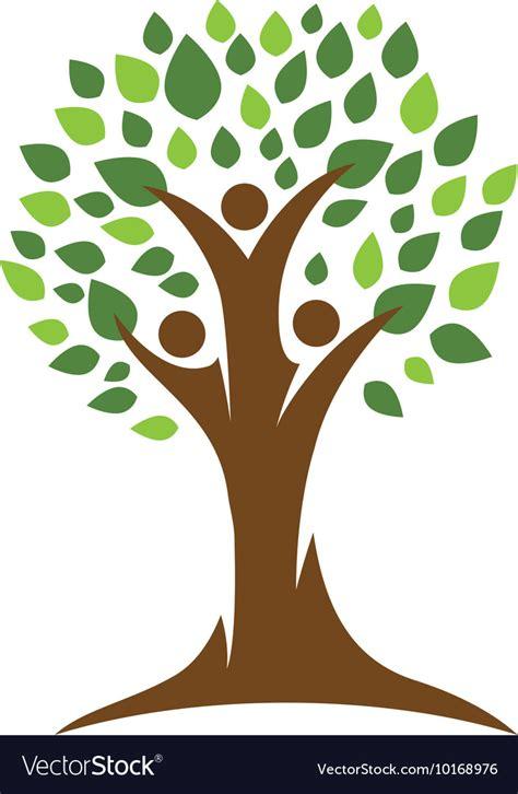 Family Tree Logo Royalty Free Vector Image Vectorstock Ancestry Tree Stock Images Royalty Free Images Vectors