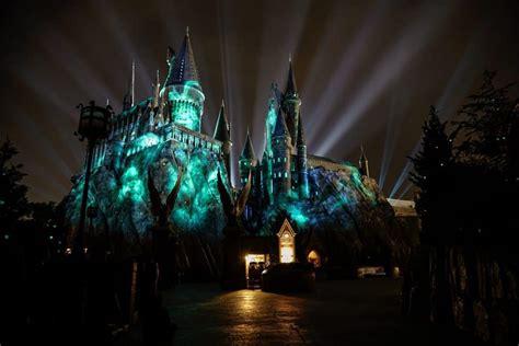hogwarts light orlando the nighttime lights at hogwarts castle at universal s