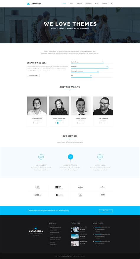 html5 template file antarctica business portfolio html5 template by