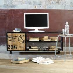 Shabby Chic Wall Mural meuble tv biblioth 232 que design en 50 id 233 es inspirantes