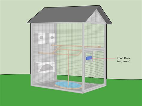 Home Interior Bird Cage How To Build An Aviary 12 Steps With Pictures Wikihow