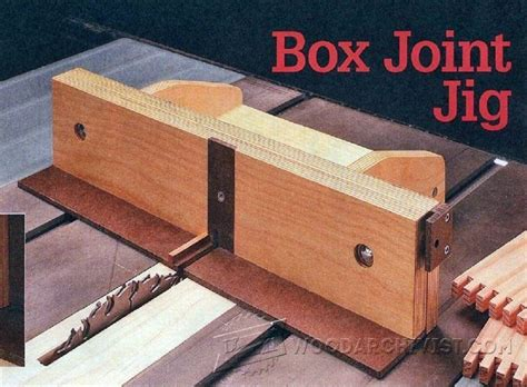box joint jig plans joinery tips jigs  techniques
