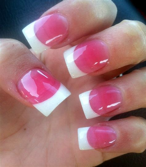french tip with dark pink powder products i love