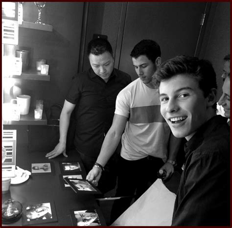 Is Nick Helping Put Out An Album by Nick Jonas Tries To Out Album Cover Meets Shawn