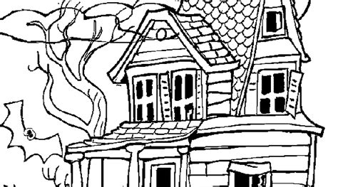 Printable Haunted House Coloring Pages haunted house coloring pages
