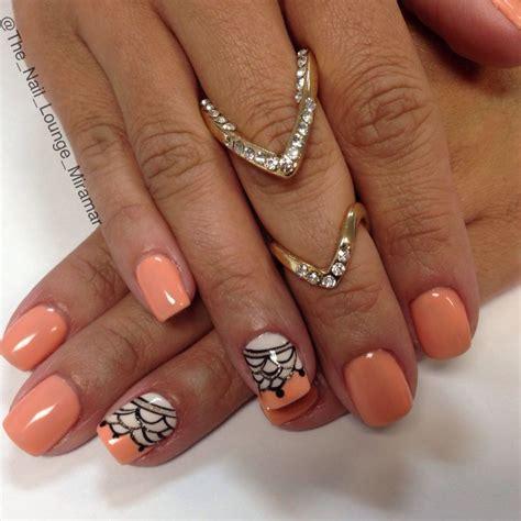 gel nail color ideas coral gel nail design nail nail