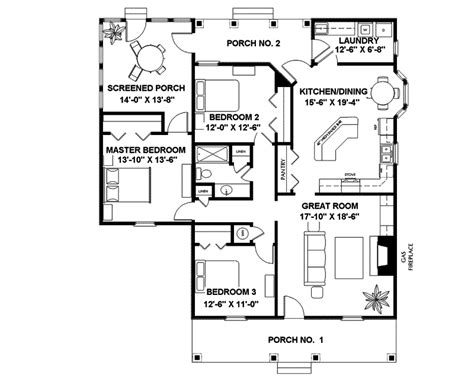 14 best country cabin floor plans building plans online 19695